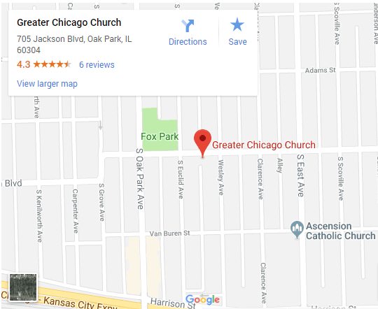 Greater Chicago Church map
