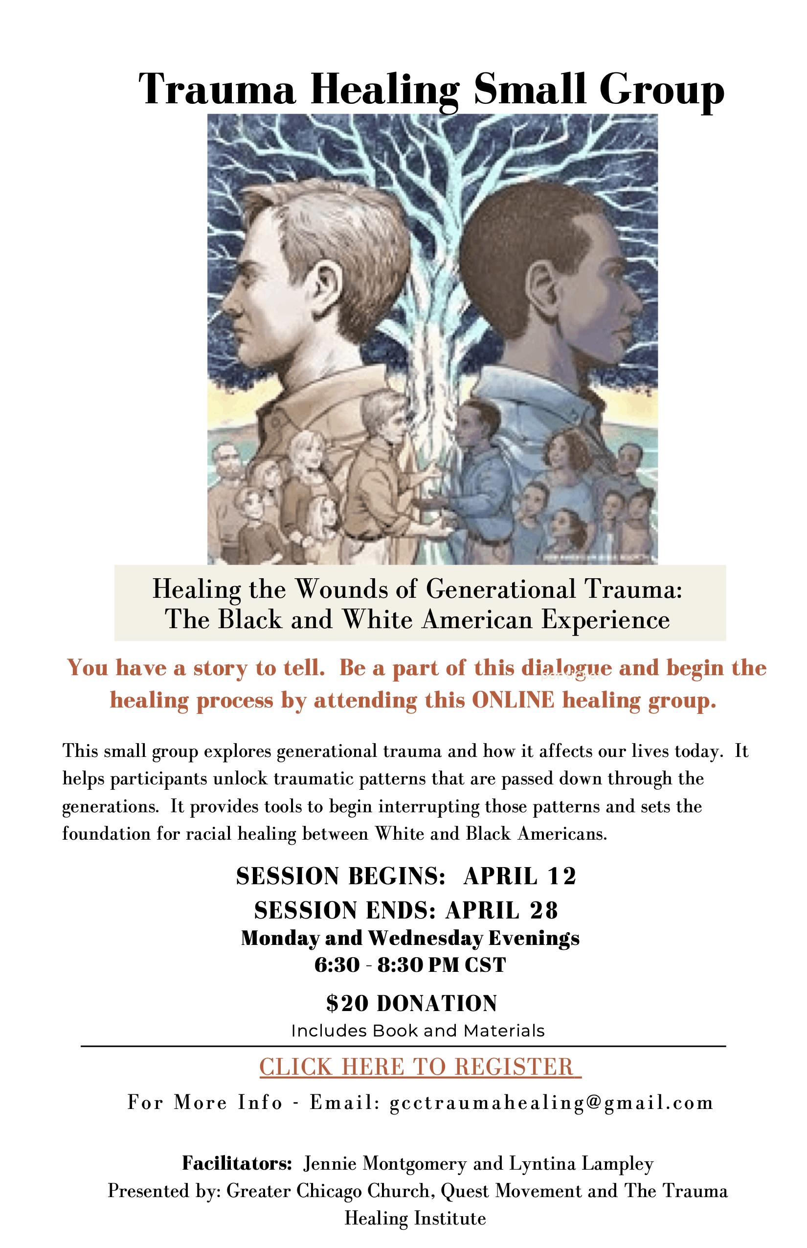 Trauma Healing Small Group